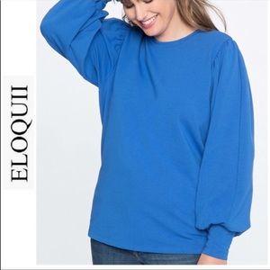 🎄NEW Women's Eloquii Puff Sleeve Sweatshirt🎅🏻